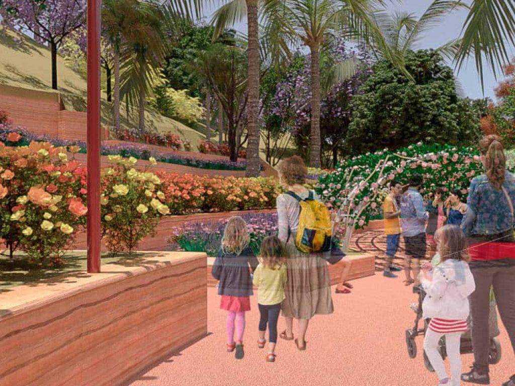 El proyecto prevé el mantenimiento de la vegetación existente así como la incorporación de nuevos ejemplares que sirvan para comprender el paisaje de la región.