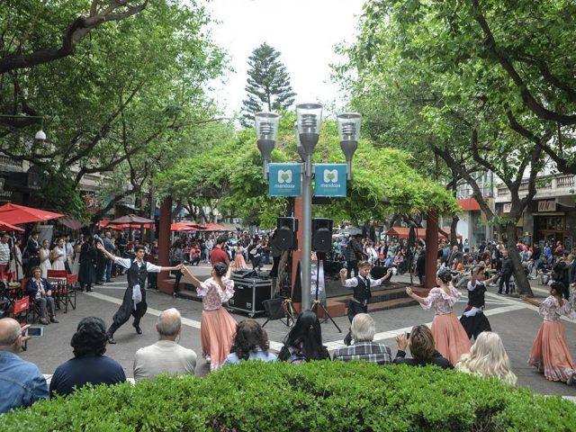 Fiesta en la peatonal, Mendoza